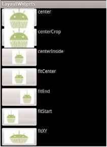 recipe using image buttons in a table layout android sdk